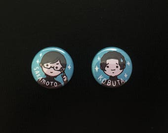 "Sakamoto Desu Ga - Digitally Illustrated 1"" button Pack"