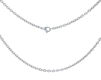 59 cm silver color stainless steel chain