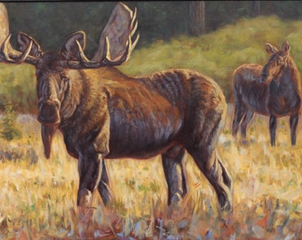 Beware Your Approach-Moose (original oil painting)