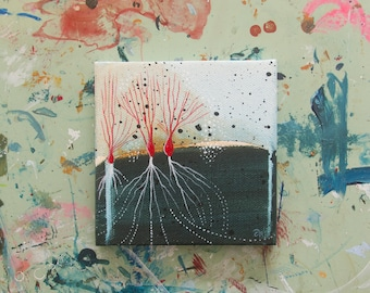 Seventeen: Small Abstract Painting
