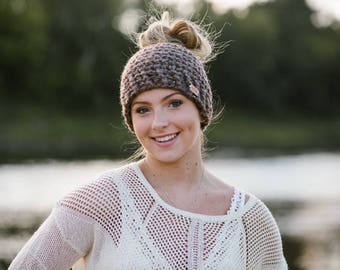 Messy Bun Hat, Ponytail Hat, Bun Hat, Women's Hat