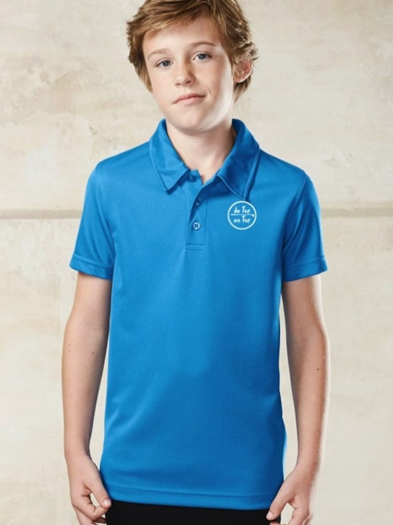 Polo t-shirt for kids (girl and boy, unisex) De Tee En Tee logo in different colors.