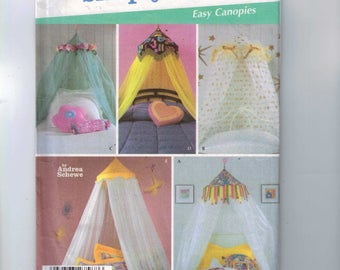 Craft Sewing Pattern Simplicity 5126 Bedroom Accessories Canopy Canopies Bed Tent UNCUT