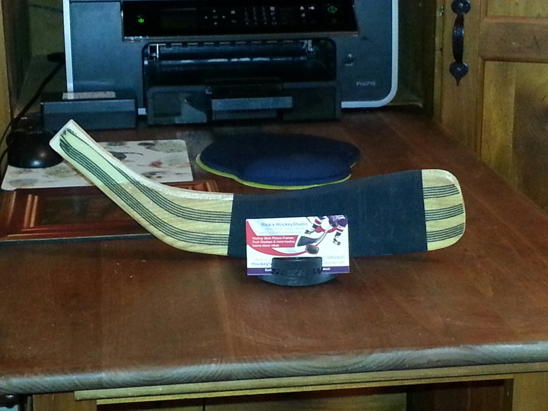 Hockey Stick Klinge & Puck-Visitenkarten-Etui Hockey