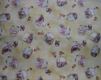 Mrs Tiggy Winkle Beatrix Potter fabric  ( Quilting Treasures ) ( 32 x 42 inches )