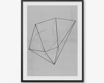 Minimal Art Print, Printable Wall Art, Instant Digital Download, Minimal, Geometric, Modern Art Print, Black and White Art Print