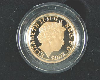 Gold Proof 2008 One Pound Royal Shield 19.61g