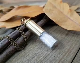 Supernatural - supernatural necklace - bullet necklace - supernatural salt - supernatural cosplay - supernatural gifts - rock salt necklace