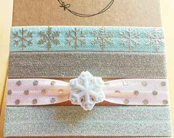 Snowflake Hair Tie Collection