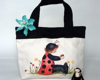 Kids Handbag, Carrier Bag or Toy Bag - Dorothy & Spot the Ladybird