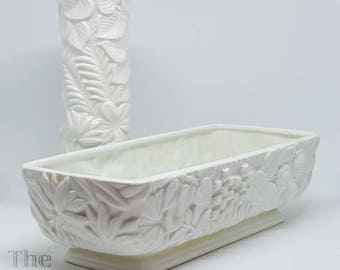 Fred Roberts White Lily of the Valley Planter and Bud Vase, made in Japan