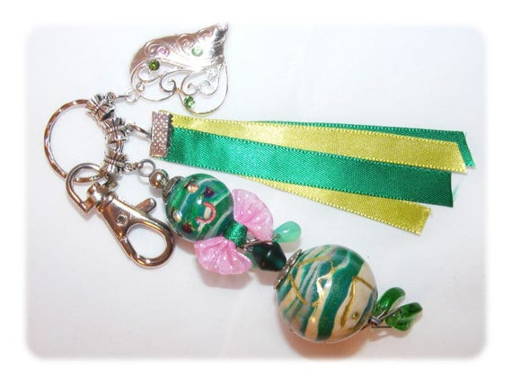 Bag charm polymer clay doll Keychain doll, uniquely DollyDoo, accessory bag, handmade, gift MOM, bag embellishment