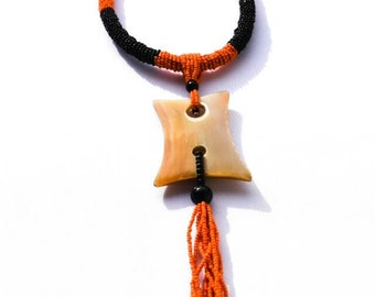"African beaded necklace ""collar"""