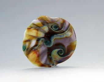 Groovy lampwork focal bead
