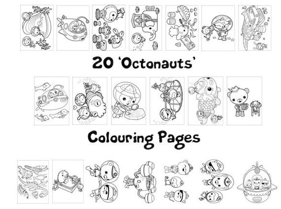 OCTONAUTS Colouring Book Pack 20 x A4 Sheets Rainy