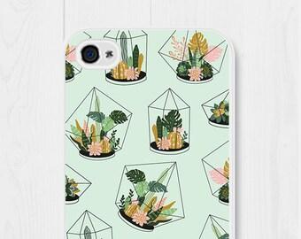 iPhone 6 Case Gift Cactus iPhone 6 Case Mint iPhone SE Case Cactus Samsung Galaxy S7 Case Cactus Phone Case Succulent Phone Case Terrarium