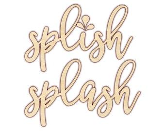 Splish Splash - Splish Splash Sign - Bathroom Art - Bathroom Wall Decor - 160180