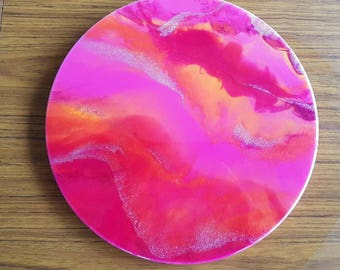Tequila Sunrise - Resin Wall Art