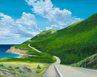 GICLEE Fine Art Reproductions on 8.5x11 PAPER - Cabot Trail by Daina Scarola (Cape Breton, Nova Scotia)