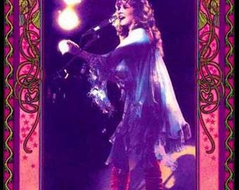Stevie Nicks art nouveau poster
