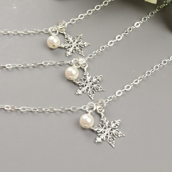 Winter Wedding Jewelry SET OF 6 Sterling Silver Swarovski
