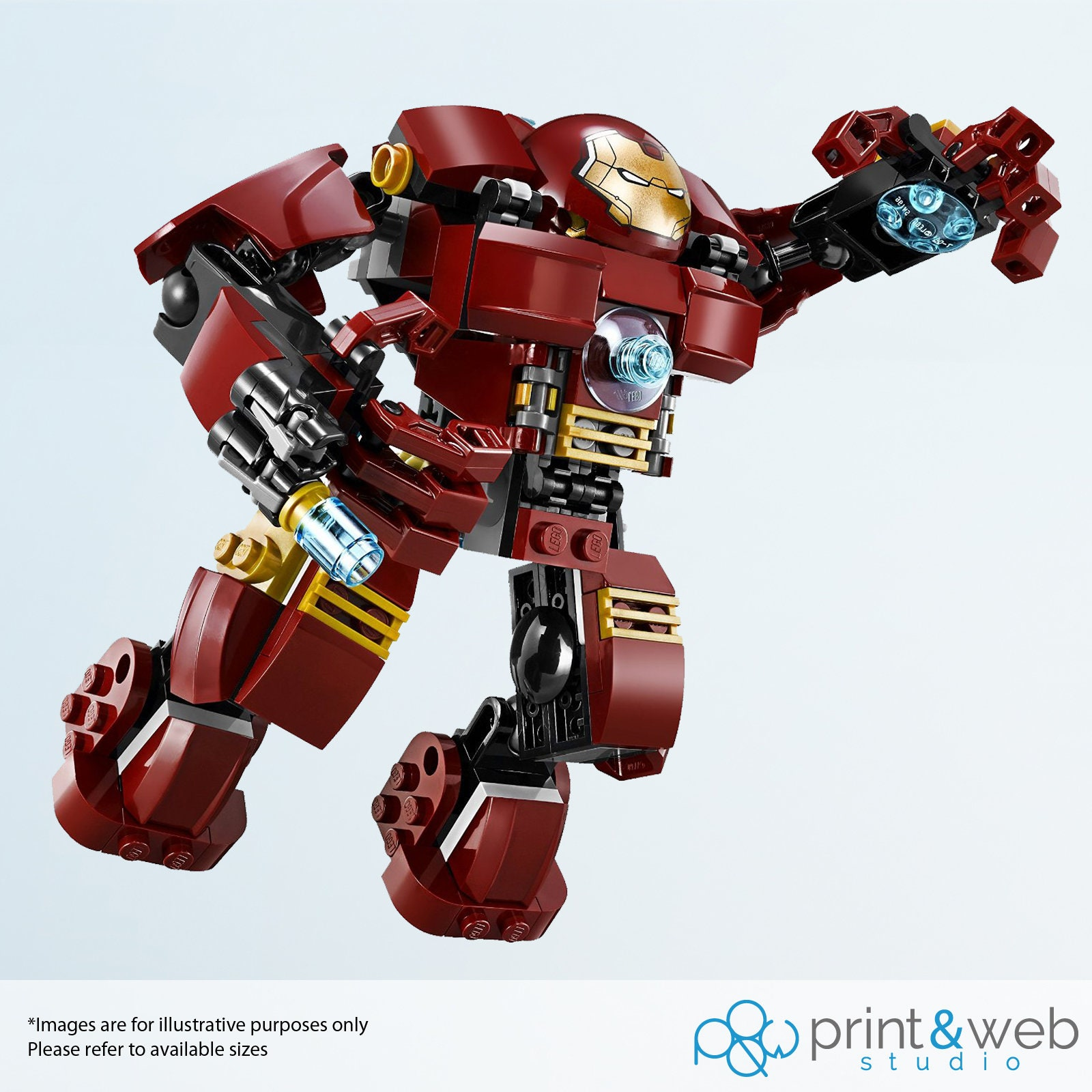 Lego Marvel Hulkbuster Iron Man Wall Decal Sticker Bedroom