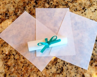 Message Scrolls w/ribbon 25pc - Vellum translucent paper