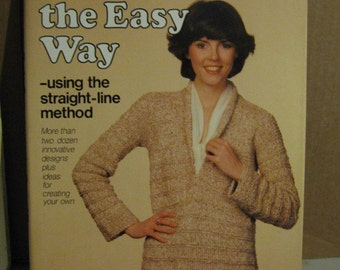 Knit Sweaters the Easy Way - Straight Line Method by Solweig Hedin - Hardcover Book