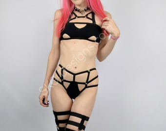 Ambrosia harness cage panties