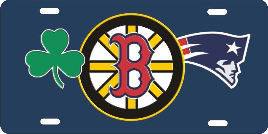 Custom license plate boston sports teams combined logo celtics custom license plate boston sports teams combined logo celtics bruins red sox patriots voltagebd Image collections