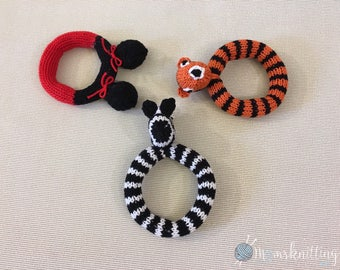 Free Shipping Baby Ring Rattle, Chew Toy Gift for Dog, Infant, Babies, Knitted Stuffed Toy, Stuffed Animal, Children's Toy.READY TO SHIP,