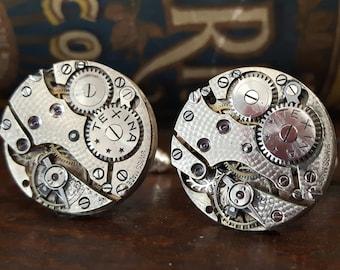 Vintage Texina Watch Movement Cufflinks