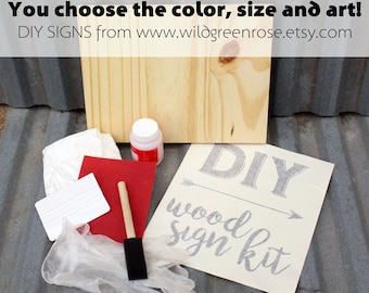 DIY wood sign kit - Includes everything to make your own sign!