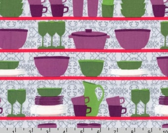 SALE - Table Talk - Retro Dishes Cups by Laurie Wisbrun from Robert Kaufman