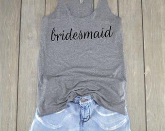 Bridesmaid Shirt | Bridesmaid - Wedding Shirt - Bachelorette Party - Bridal Party - Bridesmaid Top - Maid of Honor - Matron of Honor