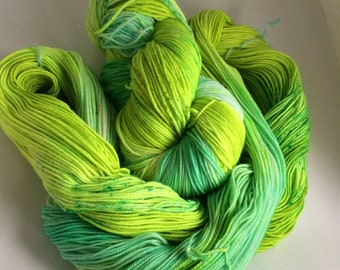 "Socks wool Hand dyed ""supergreen"""