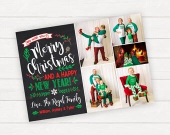 Christmas Photo Card, Christmas Cards, Family Christmas Card, Printable Christmas Cards, Printed Christmas Cards