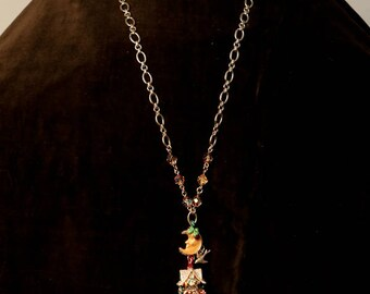 """Kirks Folly """"Ginger Bread House"""" Necklace"""