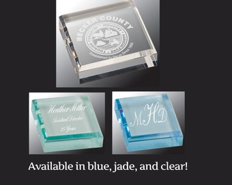 Personalized Acrylic Paper Weight, Corporate Office Gifts, Promotion Gifts