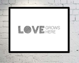 Love Grows Here - TWO VERSIONS INCLUDED   Digital Download