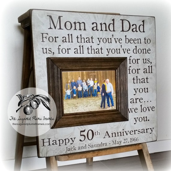 Rustic 50th Anniversary Gifts For All That You Have Been To