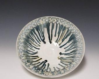 Handmade, wheel thrown ceramic serving bowl #1209