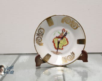 Ashtray or Cup French Cancan Paris Moulin Rouge - Pasta and Emaux Limoges Manufacturing Berry