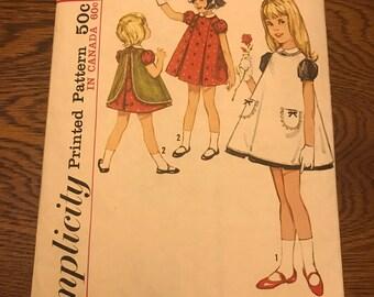 Vintage Simplicity little girl's dress pattern