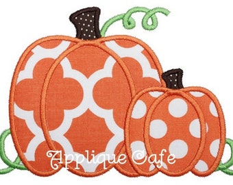 799 Pumpkins Machine Embroidery Applique Design