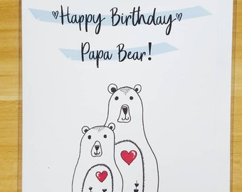 Handmade Cards - Bears, Happy Birthday Card, Cards