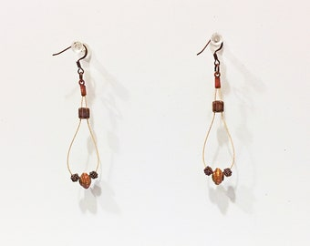 Muddy Waters - Handmade Paper Bead & Guitar String Earrings
