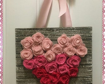 Lovely Handcrafted Valentine Heart Decor