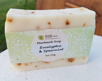 Eucalyptus & Spearmint Handmade Soap / Essential Oil Soap