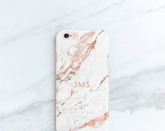 Marble iPhone X Case Rose Marble iPhone 8 Plus Case Personalized iPhone X, 7, 6S, Plus, SE Case Custom Galaxy S7, Edge Pink Accessories